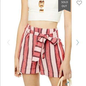TopShop linen shorts size US 2/4